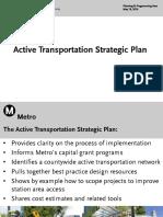 Active Transportation Strategic Plan presentation