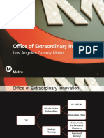 Presentation from Office of Extraordinary Innovation