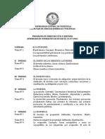 Programa Civil II - Derecho UCV