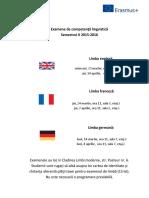 Planificare Examene de Competenta Pt Erasmus Sem. 2