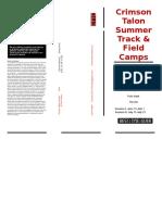 crimson talon track club summer 2016 brochure