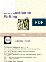 1 Introduction to Writing2