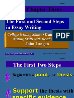 04 1st and 2nd Steps in n Essay Writing Langan