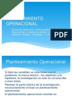 PLANTEAMIENTO OPERACIONAL