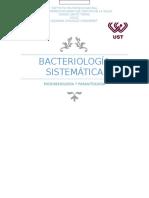 Bacteriología sistemática