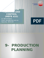 Chapter 9 - Production Planning