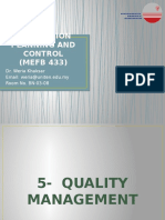 CHAPTER 5 - Quality Management