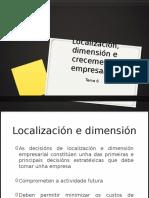 Localización, dimensión e crecimiento empresarial