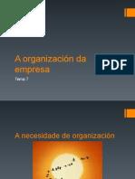 A organización na empresa