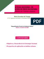 Restauracion dr Rios x Tramos- Estrategia Nacional de España