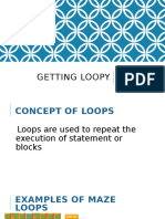 Getting Loopy