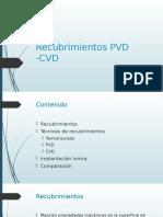 Recubrimientos PVD -CVD