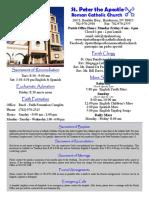 St. Peter the Apostle Bulletin 5-29-16