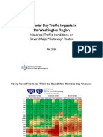 Memorial Day Traffic Hourly Tables
