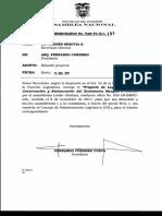 Proyecto de Ley Orgánica de Conservación y Restauración Del Ecosistema Manglar Tr. 85013