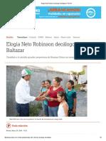 05-24-2016 Elogia Neto Robinson Decálogo de Baltazar