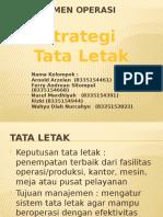 Manajemen Operasi Tata Letak
