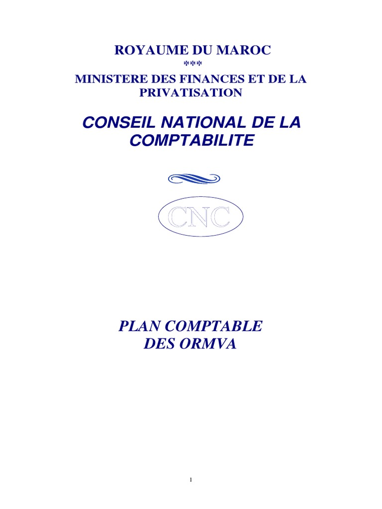 plan comptable des ormva | Accounting | Generally Accepted ...