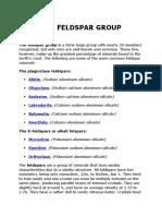 The Feldspar Group
