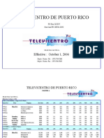 Televicentro de Puerto Rico (WAPA TV) - Tarifas 2007 (Rate Card)
