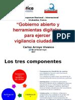 Presentación Carlos Arroyo XXVIQ
