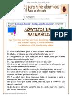 Acertijos de Matemáticas