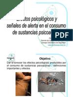 Efectos psicológicos y señales de alerta en el consumo de sustancias psicoactivas