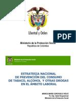 Estrategia nacional de prevención del consumo de sustancias psicoactivas en el ámbito laboral