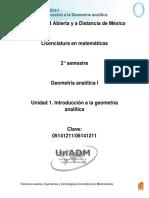 U1. Introduccion a La GeometEria Analitica