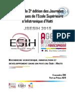 Actes de la JSESIH2015