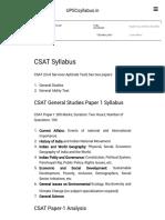 CSAT Syllabus - 2016-2017 _ UPSCsyllabus