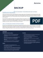 AcronisBackup Datasheet Es-ES