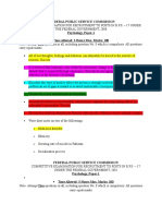 Psychology Paprs Analysis