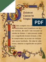 As 200 Palavras Comuns Na Língua Italiana