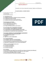 Série d'exercices N°1 (Lycée pilote) - SVT - 2ème Sciences (2011-2012)  Elève Ragheb