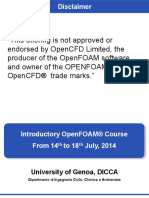 Introductory OpenFOAM Course