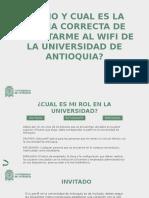 ¿Cómo conertarme a Wi-Fi en la UdeA?