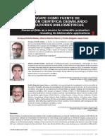 ResearchGate como fuente de evaluación científica