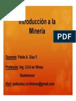 2601 Introduccion a La Mineria - Copia