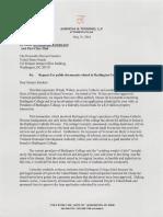 Toensing Letter to Senator Sanders Re