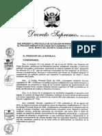 Protocolo de Actuación Interinstitucional Para El Proceso Inmediato en Casos de Flagrancia y Otros Supuestos Bajo El D. Leg. Nº 1194