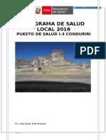 Plan Operativo Institucional Del Puesto Salud Conduriri
