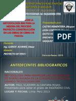 IMPLEMENTACION DE LA METODOLOGIA BIM PARA LA ETAPA PROYECTO-CONSTRUCCION