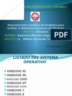 Requerimientos de hardware para instalar windows