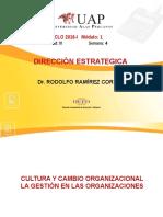 CULTURA Y CAMBIO ORGANIZACIONALLA GESTIÓN EN LAS ORGANIZACIONES