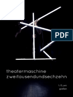Programmheft Theatermaschine 2016