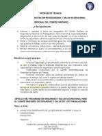 TEMARIO COMITÉ PARITARIO