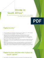 Digital Divide in South Africa