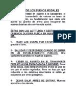 Decálogo de Los Buenos Modales