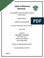 """Practica 2 """"Determinacion del peso molecular"""""""